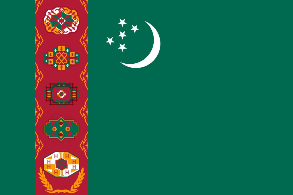 Bandera de Turkmenistan