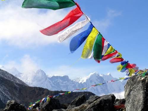 La bandera de Nepal 1