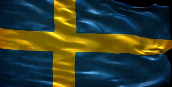 Bandera de Suecia 3